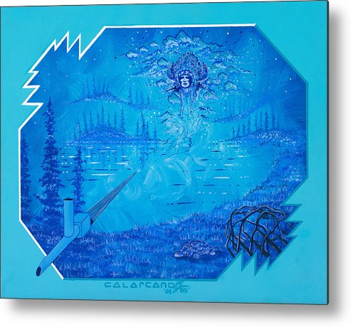 Vision Metal Print featuring the painting Vision by Cal Arcand
