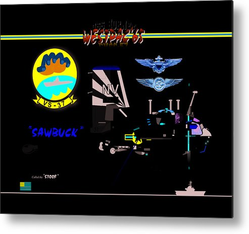 Metal Print featuring the digital art Vs-37 Stoof by Mike Ray