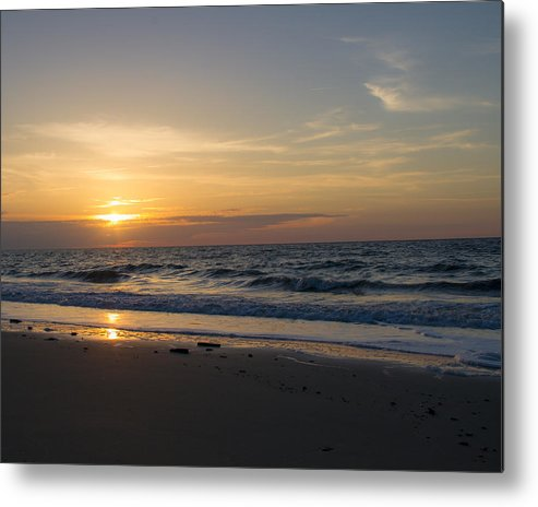 Landscape Metal Print featuring the photograph Walk On The Beach by Barbara Blanchard