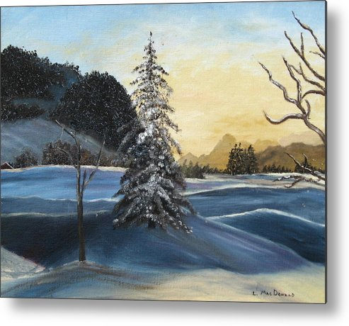 Landscape Metal Print featuring the painting Walk On Walk On by L A Raven