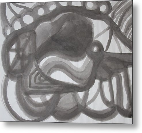 Metal Print featuring the painting Water Ink by Joseph Arico