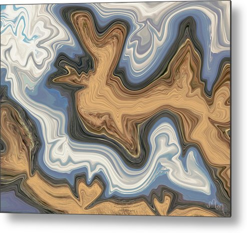 Abstract Metal Print featuring the photograph Waves Of Heart by Karmen Chow