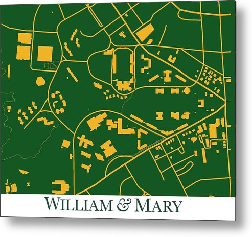 William And Mary Campus Metal Print By Spencer Hall