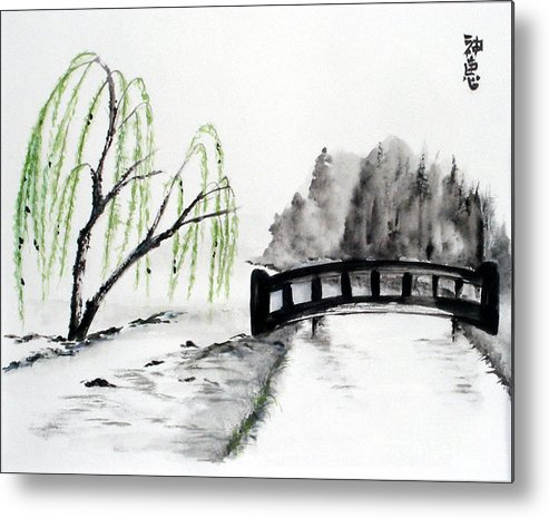 Willow Metal Print featuring the painting Willow by Sibby S