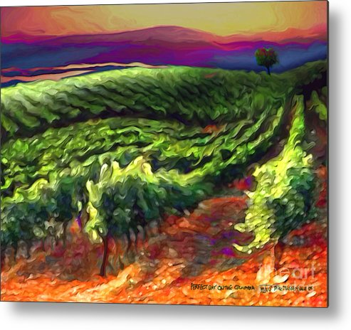 Wine Metal Print featuring the painting Wine Country by Mike Massengale