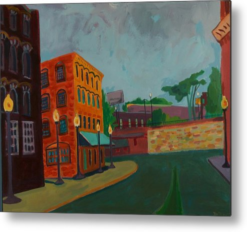 Cityscape Metal Print featuring the painting Wingate Street by Debra Bretton Robinson
