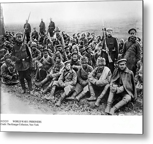 1914 Metal Print featuring the photograph World War I: Prisoners by Granger