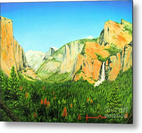 Yosemite National Park Metal Print featuring the painting Yosemite National Park by Jerome Stumphauzer