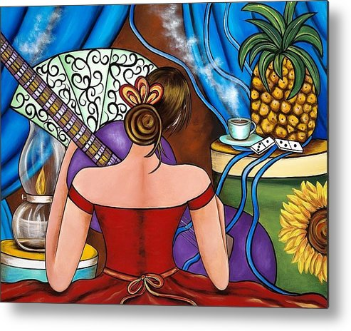 Cuba Metal Print featuring the painting You Belong To Me by Annie Maxwell