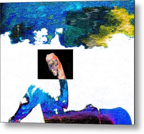 Horseman Metal Print featuring the digital art Horseman by Artist Dot