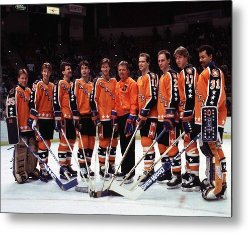 1980-1989 Metal Print featuring the photograph 1986 38th Nhl All-star Game Campbell by B Bennett
