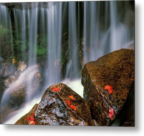 Idaho Scenics Metal Print featuring the photograph Autumn Waterfall by Leland D Howard