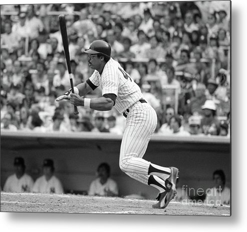 People Metal Print featuring the photograph Reggie Jackson New York Yankees by Mitchell Reibel