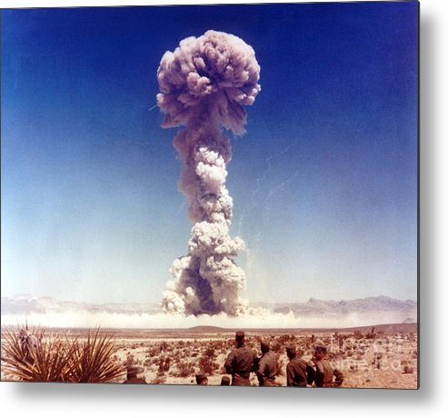 Bombs Metal Print featuring the digital art The Dog Shot. Military Personnel by Everett Historical