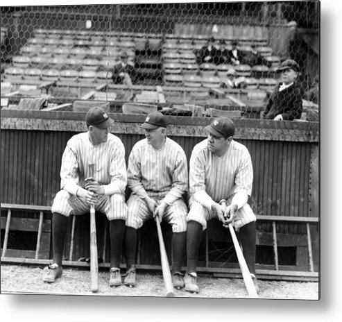 American League Baseball Metal Print featuring the photograph The Very First World Championship New by New York Daily News Archive