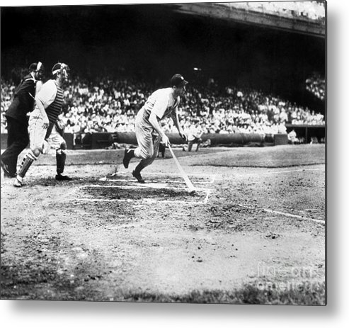 American League Baseball Metal Print featuring the photograph Joe Hall by National Baseball Hall Of Fame Library
