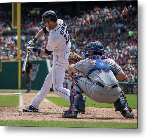 Andrew Romine Metal Print featuring the photograph Andrew Romine by Dave Reginek