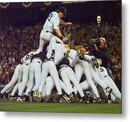 American League Baseball Metal Print featuring the photograph Paul O'neill by New York Daily News Archive