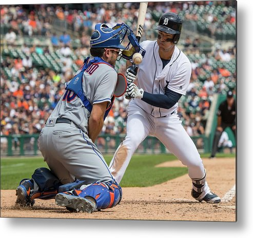 Baseball Catcher Metal Print featuring the photograph Travis D'arnaud by Dave Reginek