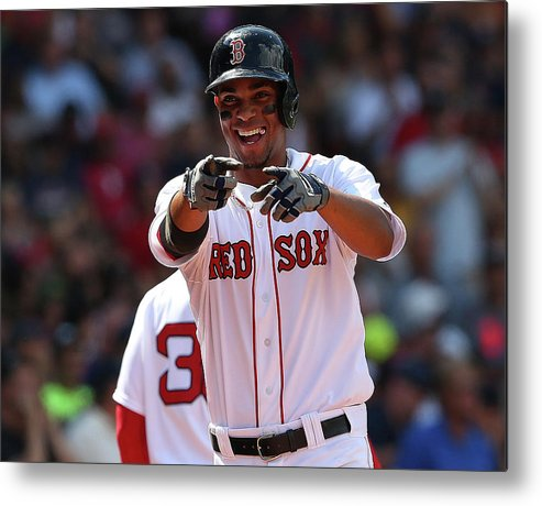 People Metal Print featuring the photograph Xander Bogaerts by Jim Rogash