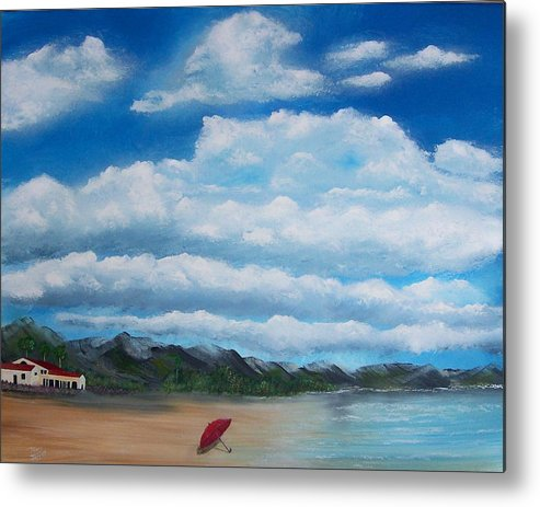 Clouds Metal Print featuring the painting Clouds by Tony Rodriguez