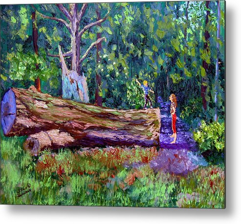 Landscape Metal Print featuring the painting Sewp 6 21 by Stan Hamilton