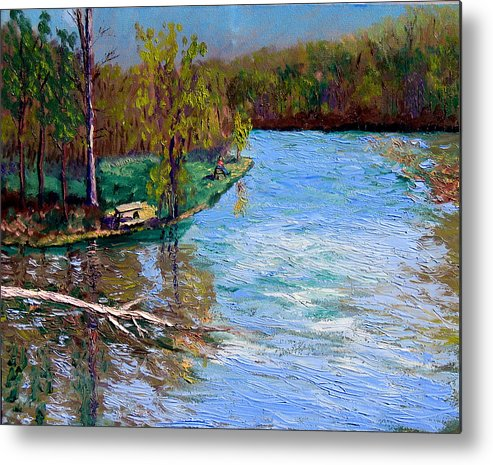 Original Oil On Canvas Metal Print featuring the painting Bcsp 4-26 by Stan Hamilton