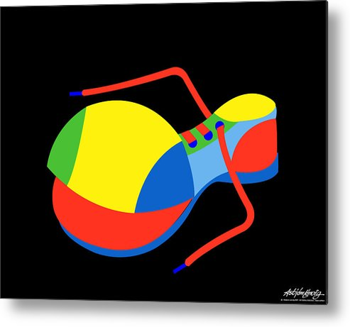 Clown Metal Print featuring the digital art Clown Shoe by Asbjorn Lonvig