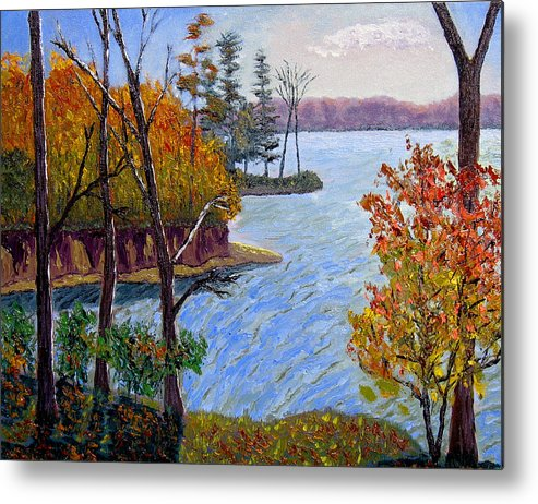 Original Oil On Canvas Metal Print featuring the painting Ecp 10-26 by Stan Hamilton
