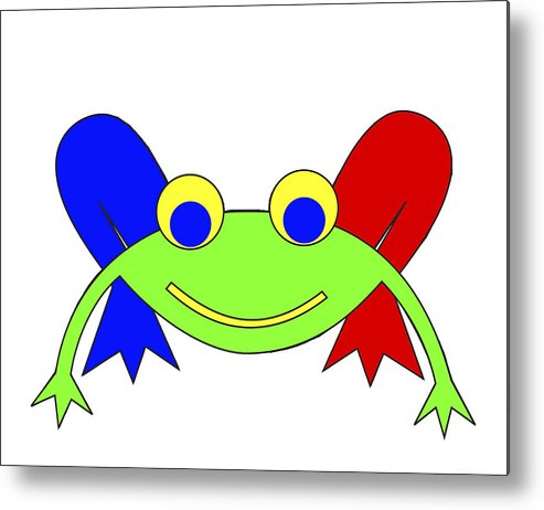 Frederic The Frog. Frederic Metal Print featuring the digital art Frederic The Frog by Asbjorn Lonvig