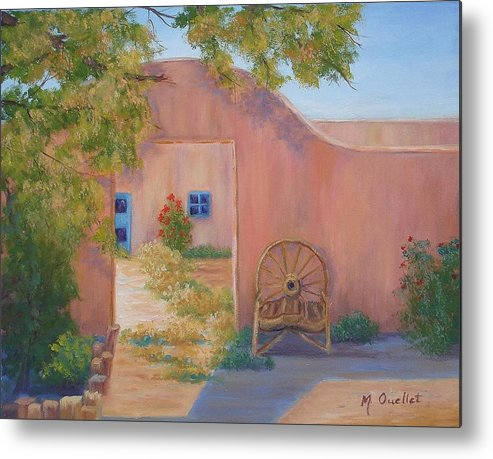 Landscape Metal Print featuring the painting Southwest by Maxine Ouellet