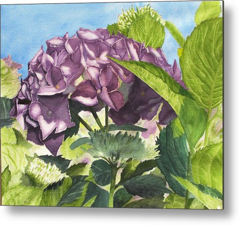 Floral Metal Print featuring the painting Vanessa's Flower by Robert Thomaston