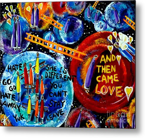 Then Metal Print featuring the painting Then Came Love by Jackie Carpenter