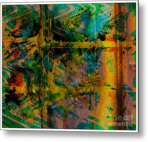 Front Metal Print featuring the digital art Abstract - Emotion - Facade by Barbara Griffin