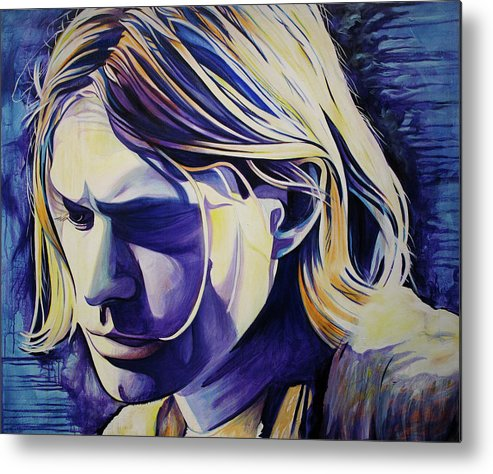 Kurt Cobain Metal Print featuring the painting All In All Is All We Are by Joshua Morton
