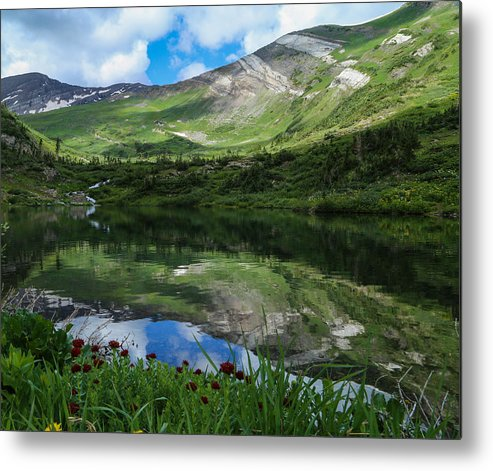 Alpine Lake Metal Print featuring the photograph Alpine Reflections by Kevin Buffington