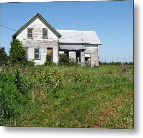 Abandoned Farmhouses Metal Print featuring the photograph Be Careful At The Well. by Richard Stanford