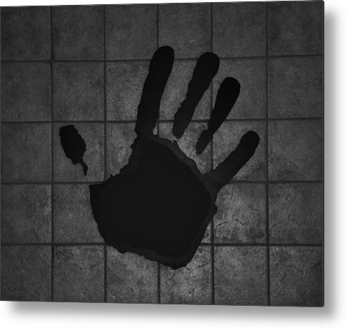 Hand Metal Print featuring the photograph Black Hand by Rob Hans