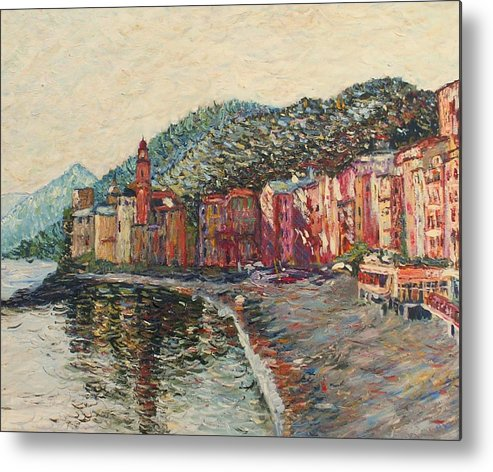 Italy Metal Print featuring the painting Camogli by Rob White