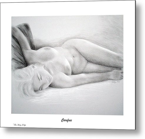 Joe Ogle Metal Print featuring the painting Care Free-print Only by Joseph Ogle