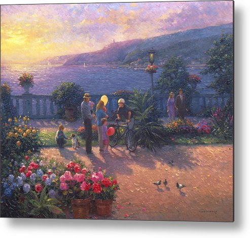 Woman Metal Print featuring the painting Family Friendly by Ghambaro