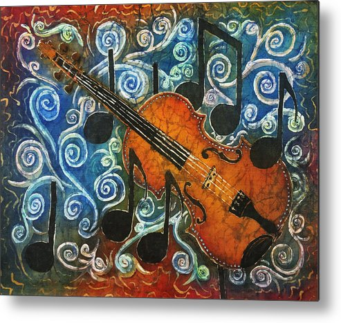 Fiddle Metal Print featuring the painting Fiddle 1 by Sue Duda