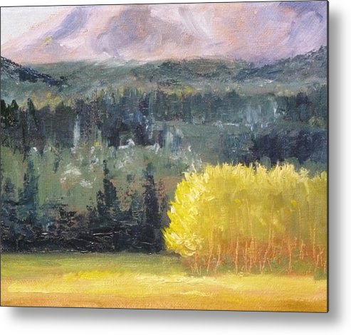 Oregon Metal Print featuring the painting Foot Of The Mountain by Nancy Merkle