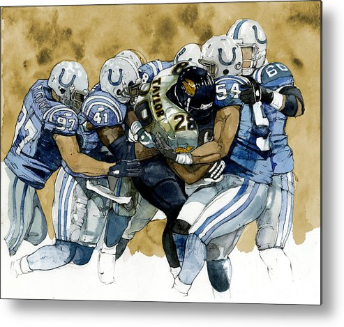Fred Taylor Metal Print featuring the painting Fred Taylor by Michael Pattison