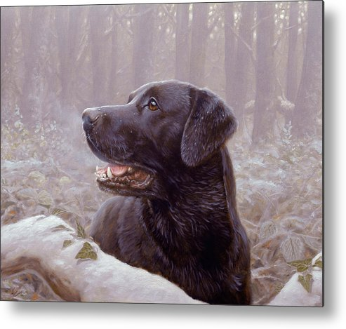 Lab Metal Print featuring the painting Frozen Breath by John Silver