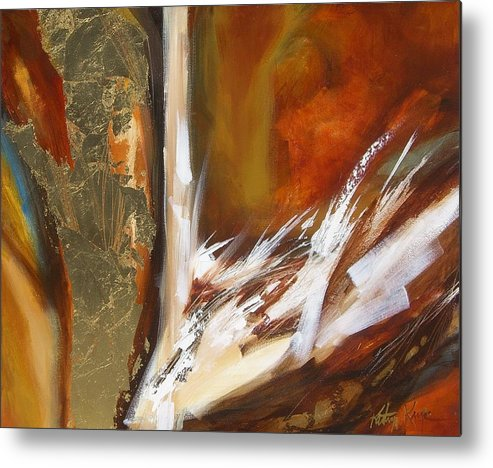 Abstract Metal Print featuring the painting Future by Kathryn Kaye