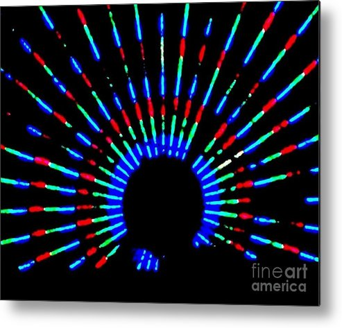 Gama Ray Metal Print featuring the photograph Gama Ray Light Burst Abstract by Eric Schiabor