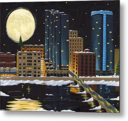 Grand Rapids Metal Print featuring the painting Grand Rapids by Christy Beckwith