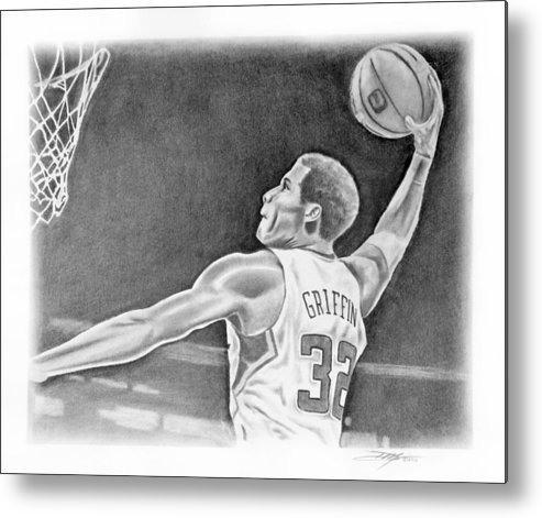Clippers Metal Print featuring the drawing Griffin by Don Medina
