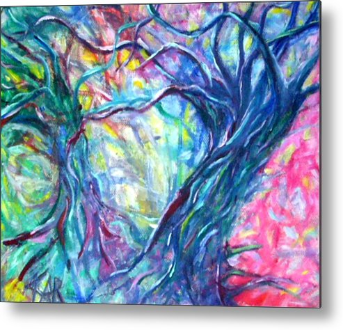 Abstract Metal Print featuring the painting Intertwined 1 by Art by Kar